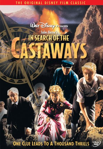 DVD Cover of In Search of the Castaways | Meg's Movie Review of In Search of the Castaways starring Hayley Mills, Maurice Chevalier, Wilfrid Hyde-White | Read more about it at MegsMinutes.com
